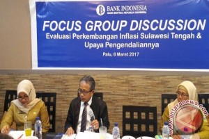 Evaluasi Inflasi, BI Sulteng Gelar Fokus Grup Diskusi