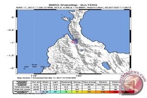 Gempa Cukup Keras Guncang Palu