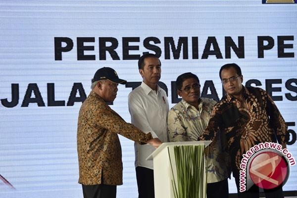 Presiden Jokowi resmikan pengoperasian jalan tol akses Priok