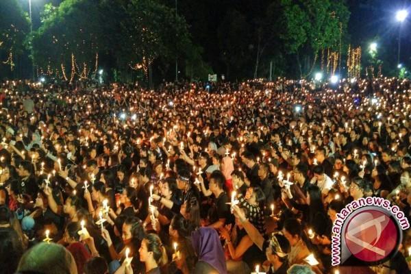 Massa solidaritas untuk Ahok membubarkan diri