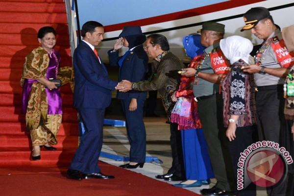 Presiden Jokowi Tiba Di Palu Usai Dari Tiongkok