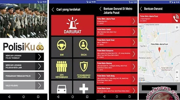 Polres Palu Kampanyekan Aplikasi