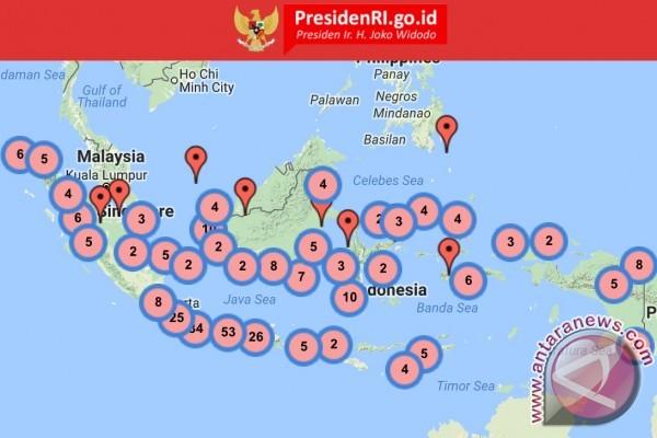 Ini peta digital lokasi blusukan Presiden Jokowi