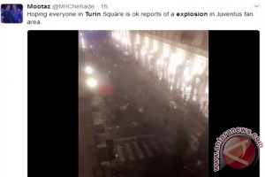Ledakan terjadi di Turin usai final Liga Champions