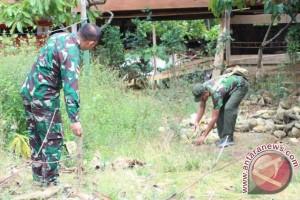 Opster TNI Poso Bangun TK-PAUD di Tamanjeka
