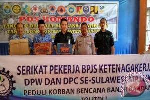 BPJS Ketenagakerjaan peduli korban banjir Tolitoli