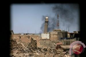 Hancur sudah, Masjid An-Nuri di Mosul tempat ISIS dideklarasikan
