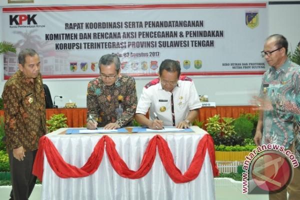 Gubernur Sulteng Tegaskan Komitmennya Cegah Korupsi