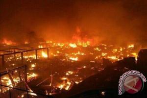 Pasar Tradisional Masomba Palu Terbakar