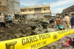 Pemkot Palu Bersihkan Lokasi Kebakaran Pasar Masomba