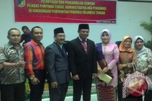 Hidayat Lamakarate resmi jabat Sekretaris Provinsi Sulteng