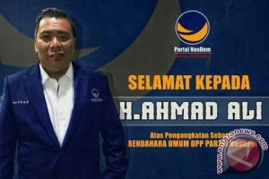 Ahmad Ali jabat Bendahara Umum DPP Partai Nasdem