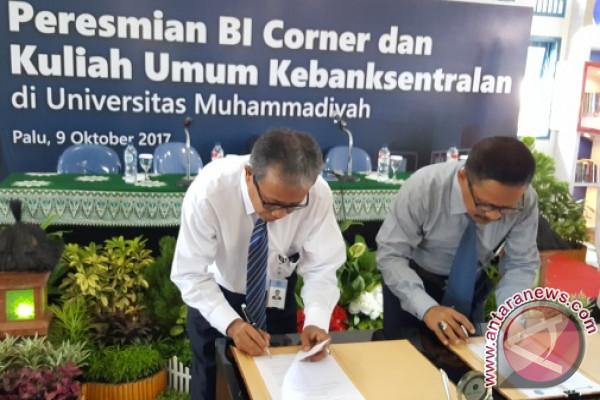 Bank Indonesia Sulteng Miliki Enam BI `Corner`
