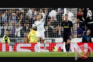 Menguasai pertandingan, Real Madrid cuma imbang 1-1 atas Tottenham