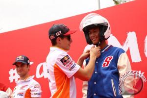 Marquez dan Pedrosa tularkan keselamatan berkendara di Indonesia