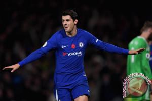 Chelsea pecundangi Manchester United berkat gol Morata