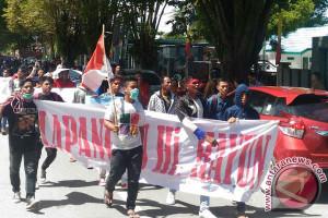 HUT Tolitoli Diwarnai Demontrasi