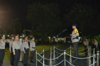 67 personel polda sulteng naik pangkat