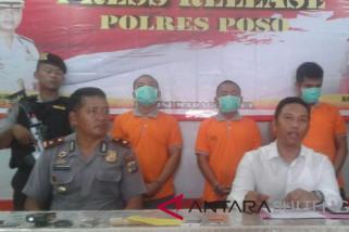 Polres Poso ringkus tiga pengedar narkoba