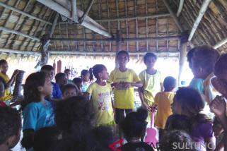 Pesan Jaga Lingkungan Anak-Anak di Raja Ampat (Video)