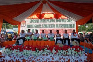 Empat paslon deklarasikan kampanye damai di Morowali