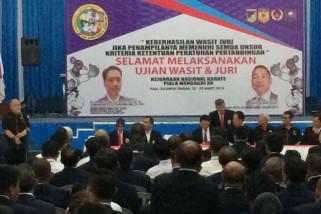 598 wasit juri karate ikut ujian di Palu