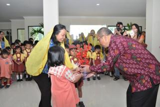 Puluhan anak usia dini belajar di kantor gubernur Sulteng