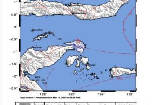 Banggai diguncang gempa 3,8 sr