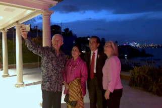 Presiden Jokowi penuhi undangan makan siang Malcolm Turnbull