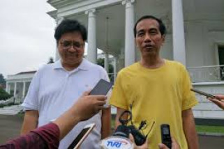 Jokowi bahas cawapres dengan Airlangga
