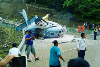 One killed from helicopter crash in mining area in C Sulawesi