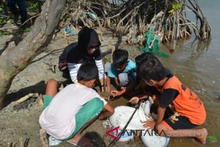 Hari bumi internasional tanam 300 pohon mangrove (Vidio)