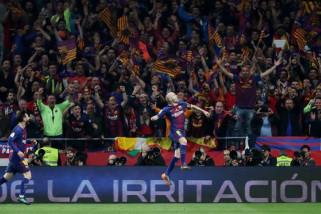Barcelona hancurkan Sevilla untuk menangi Piala Raja