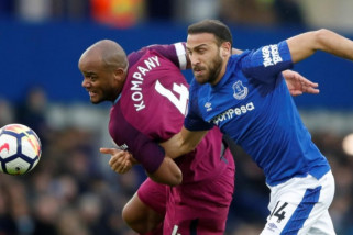 City semakin dekat juara setelah menang atas Everton
