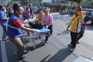 Ada 10 orang korban ledakan di Polrestabes