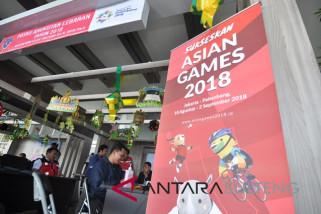 Posko lebaran bertema Asian Games