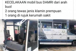 Bus Damri Buol-Palu terguling di Sojol, tiga penumpang tewas