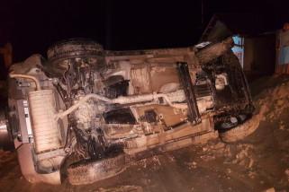 Mobil Kapolres Poso terbalik di ruas Tawaeli-Toboli