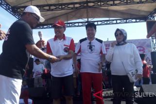 Bintang Zumba Indonesia Lisa Natalya hibur warga Kota Palu (vidio)