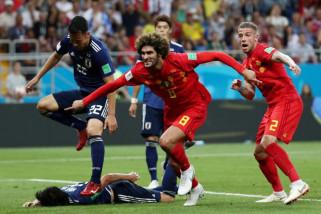 Belgia menang 3-2 atas Jepang untuk hadapi Brazil