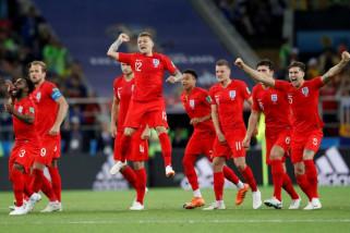 Piala Dunia 2018 - Inggris tundukan Kolombia 4-3 lewat drama adu penalti