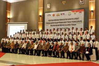KPK-Penegak hukum di Sulteng gelar pelatihan bersama