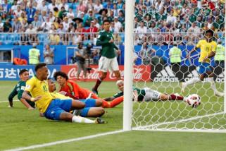 Brazil ke perempat final setelah kalahkan Meksiko 2-0
