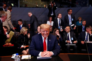 Tawa di pidato Trump tanda keterkucilan AS