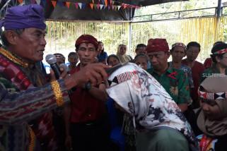 Adat Mepantodui dan Rego sambut SMN Bangka Belitung