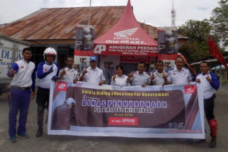 Honda sosialisasikan 'safety riding' di Dinas Perhubungan Sulteng