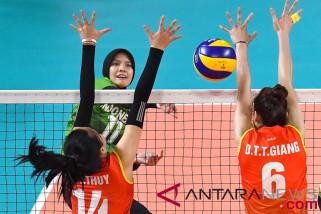 Asian Games - tim bola voli putri Indonesia kalah dari Vietnam