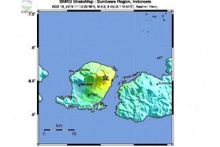 Gempa masih terjadi di lombok senin pagi
