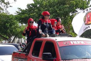 Siga merah gelar aksi tolak ujaran kebencian di Kota Palu (Vidio)