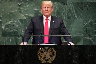 Trump datang terlambat di debat umum SMU PBB